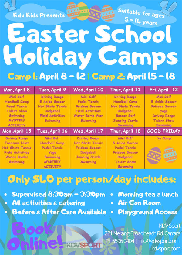 Easter School Holiday Camps 2019 Gold Coast Image