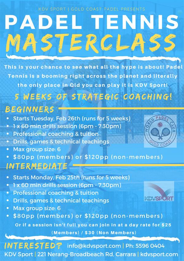 Paddle Tennis Gold Coast Flyer Image