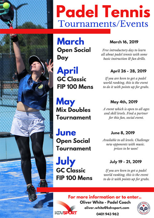 KDV Padel Tennis Tournaments 2019 Image