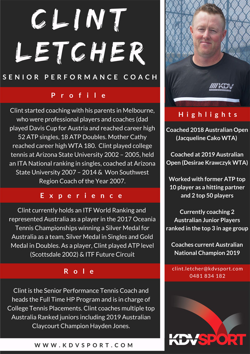 Clint Letcher - Coaches Profiles