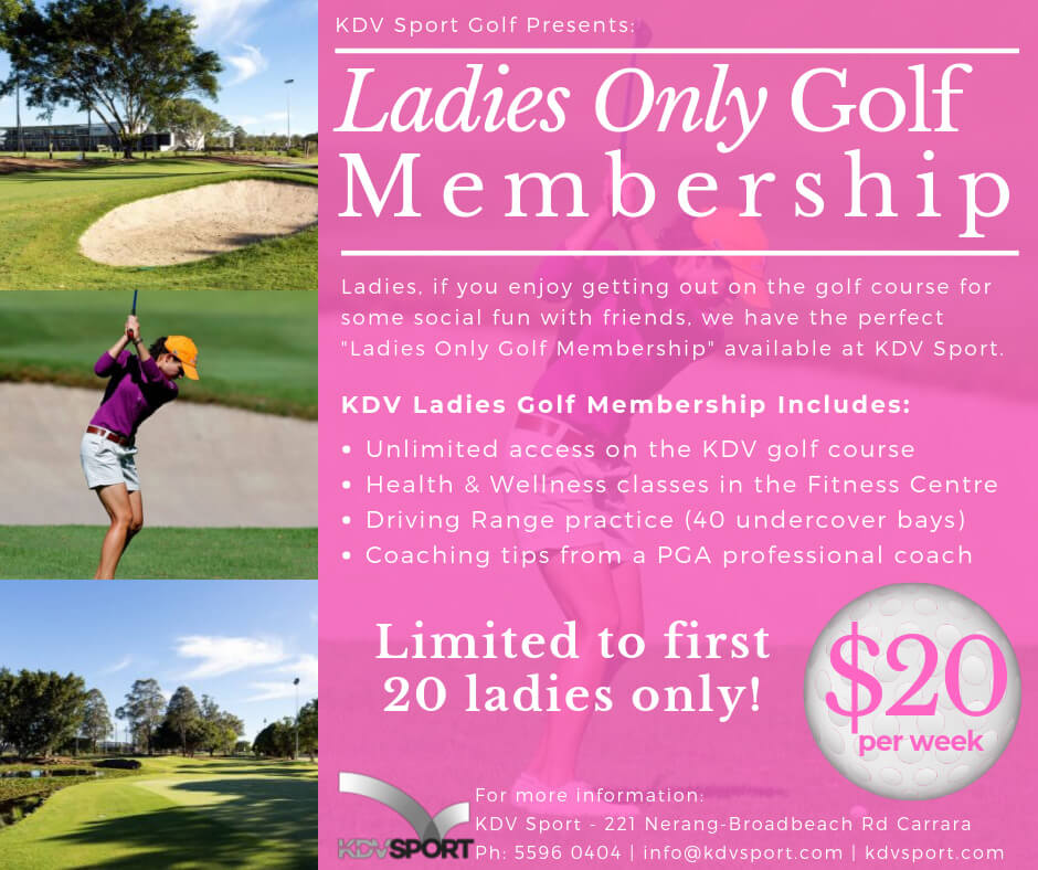 women's golf lessons gold coast