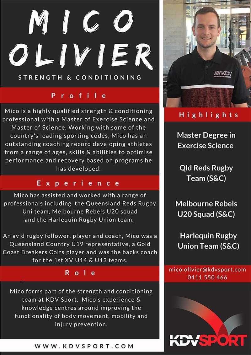 Mico Olivier Fitness Coach KDV Sport