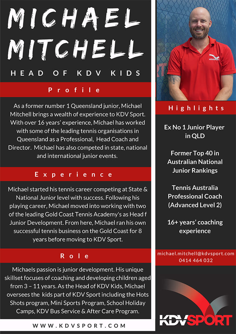 Michael Mitchell - Hotshots Tennis Coach