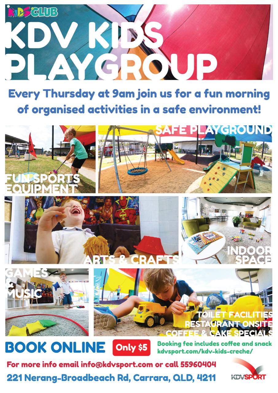KDV Sport Kids Playgroup every thursday for $5