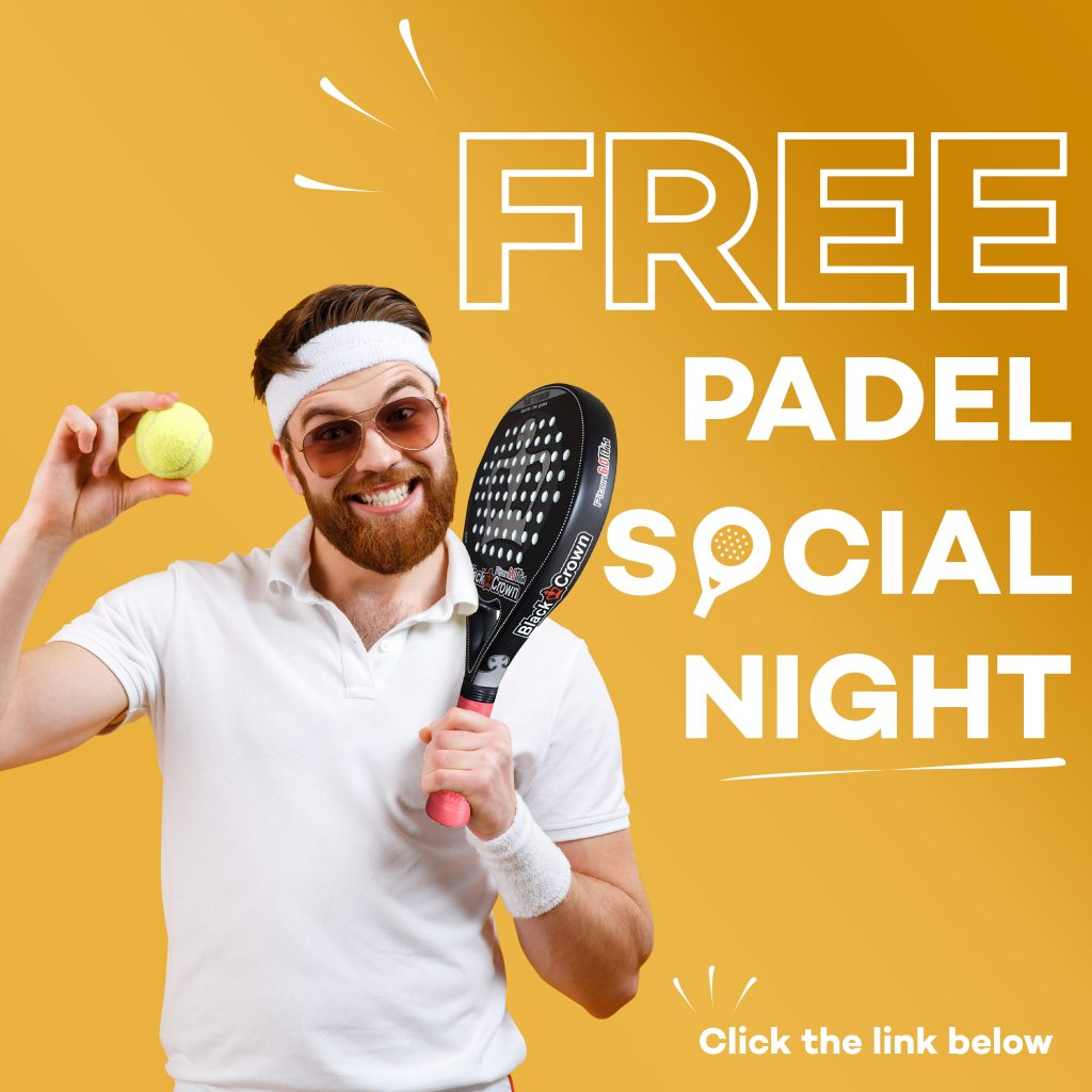 Free padel social night at KDV Sport