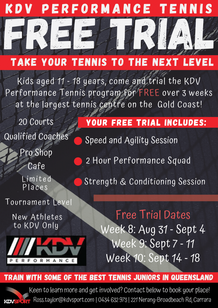 KDV Performance Tennis Free Trial