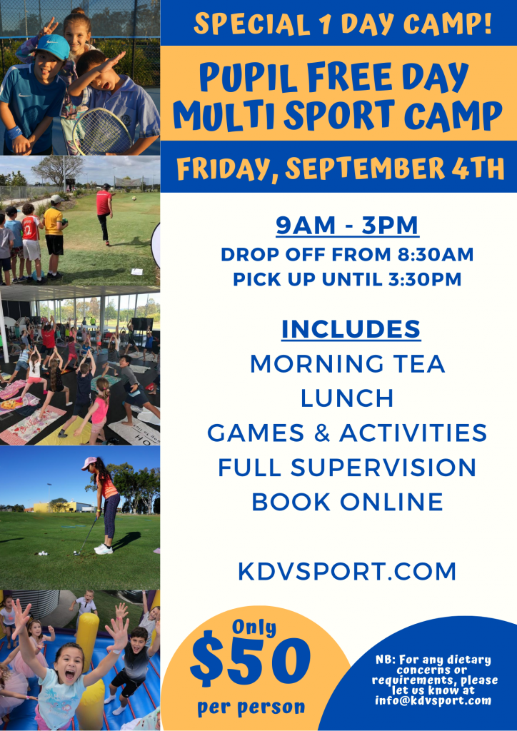 Spring Holiday Camp one day special at KDV Sport